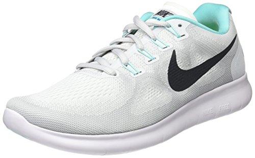 Nike Women's Free Rn 2017 Running Shoes, White (White/Pure Platinum/Aurora/Anthracite), 3.5 UK 36.5 EU