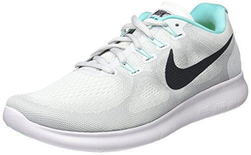 Nike Women's Free Rn 2017 Running Shoes, White (White/Pure Platinum/Aurora/Anthracite), 3.5 UK 36.5 EU