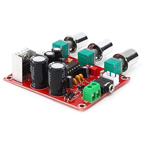Oumefar Alta fiabilidad Placa de Amplificador de Tono BBE de Dos Canales Tecnología Bipolar Placa de Tono XR1075 Silencioso para amplificadores mejorados Altavoces