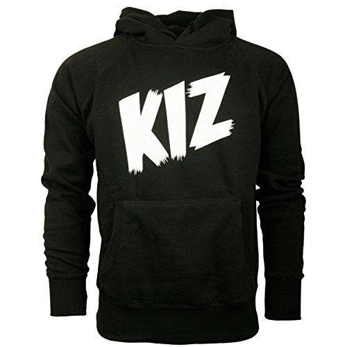 K.I.Z. Herren Kapuzenpullover Hoodie Pullover Logo Schwarz Weiß