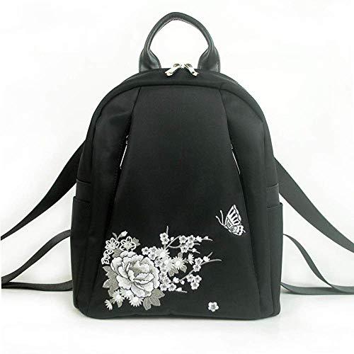 DAGUAI Classical Casual Daypack Mochilas Bordado Bordado Mochila Monedero para Mujeres Vintage Handbag Casual Viaje Bolso Hombro DaraPack Moda Mano Mochila Mochila Mujeres Regalo