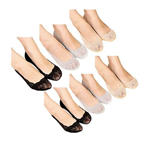 Mangotree Neue Mode Sommer Damen Jahrgang Ultradünne Transparent Schöne Crystal Lace Elastische Kurze Socken Schwarz (Z# (Grau + Weiß + Schwarz) x 2)
