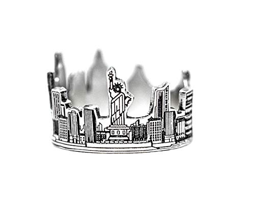 CAITLYNMINIMALIST New York City Skyline Ring - Sterling Silver (7)