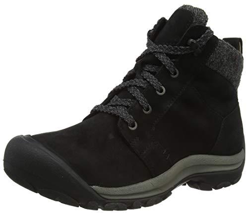 KEEN Women's Kaci 2 Winter Mid Height Waterproof Ankle Boot Hiking, Black/Steel Grey, 10.5