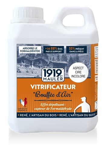 Vitrificateur parquet Ecolabel dépolluant incolore - Bouffée dAir 1L 1919 BY MAULER