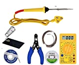 FEDUS 7 In 1 Electric Soldering Iron Stand Tool Wire Stripper Kit Soldering