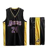 Lakers # 24 Men's Basketball Tank Top Y Shorts Set Flow Basketball Jerseys Uniform Entrenamiento Sudaderas black-XXXXL