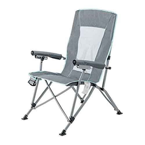 Draagbare campingstoel Beste gewatteerde klapstoel Liggend campingstoel, Heavy Duty Lounge Patio ligstoelen, drielandige aanpassing strandstoel voor tuin tuin strand zwembad of outdoor camping Lichtge