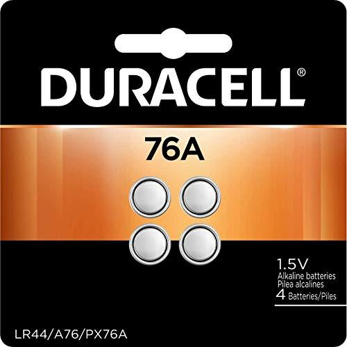 Duracell 76A LR44 Battery 1.5 Volt Alkaline 20 Pack (+50% More Power)