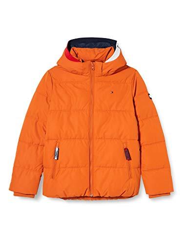 Tommy Hilfiger Jungen Essential Padded Jacket Jacke, Bonfire Orange, 14