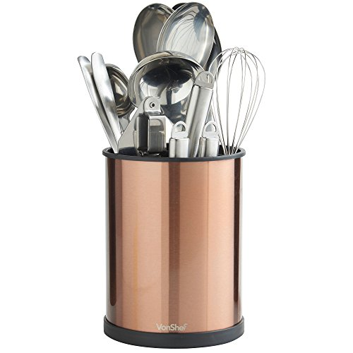 VonShef Copper Rotating Kitchen Utensil Holder Organizer...