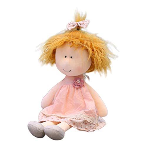 Guanan 35cm Bambole di pezza, Bambola di pezza Occhi Piccoli, Bambole di pezza Fatte a Mano, Ragazze Che dormono Partner, Giocattoli di Peluche per Ba