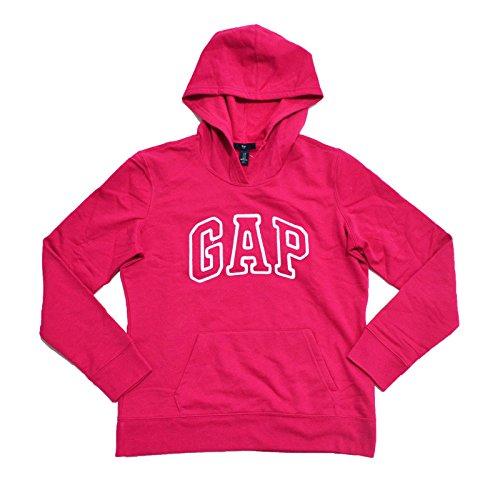 GAP moletom feminino com capuz e logotipo em fleece, Bright Pink, X-Large