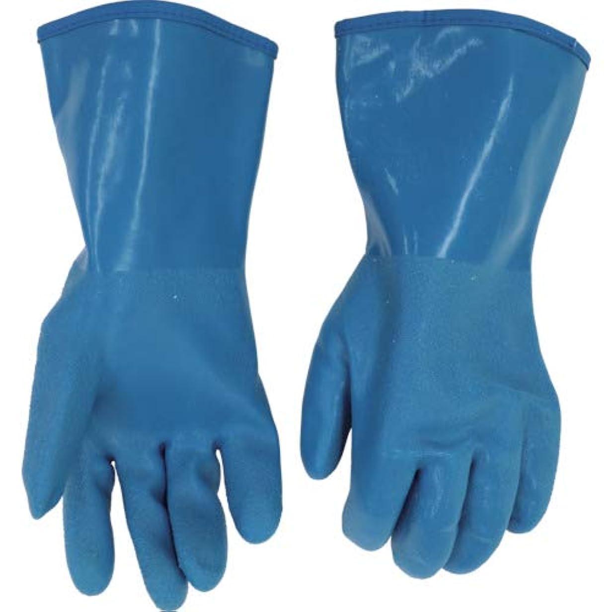 無革命的雇ったミエローブ ハイブリット防寒手袋 ブルー L