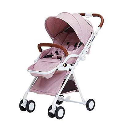 Sillitas de Paseo Sillas de Paseo, Cochecito de toldo Buggy Baby Jogger Travel Buggy Kid's Stroller, 30 * 14 * 13 Pulgadas (Color: Rosa)