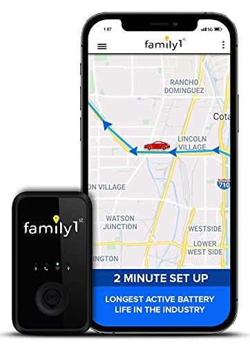 Mini GPS Tracker for Vehicles – Hidden Tracking Device for Cars, Trucks and Motorcycles with Real-Time Reports - Long Lasting Li-Po Battery with Dual Magnet Weatherproof Case (Monthly Fee Required)