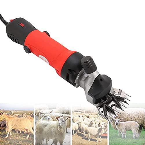 FSJD Tijeras para ovejas Ovejas Tijeras eléctricas para ovejas Tijeras de Lana de Alpaca Tijeras eléctricas Profesionales para ovejas Máquina Profesional para Cortar Animales, Rojo