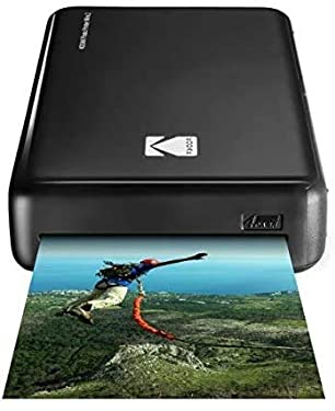 Kodak HD Wireless Portable Mobile Instant Photo Printer, Print Social Media Photos, Premium Quality Full Color Prints. Compatible w/iOS and Android Devices (Black) (Reasonable 30 Pack)