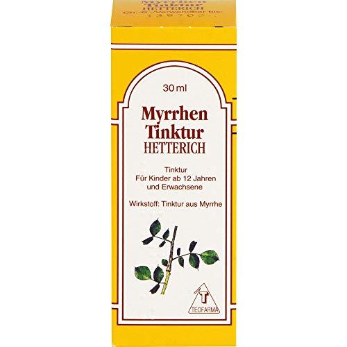 HETTERICH Myrrhen Tinktur bei Entzündungen im Mund- und Rachenraum, 30 ml Lösung