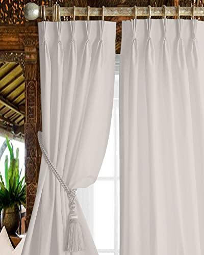 Magic Drapes - Cortinas opacas plisadas de triple pellizco, 100% poliéster, aisladas térmicamente, cortinas de oscurecimiento y paneles de ventana para cama o sala de estar (66...