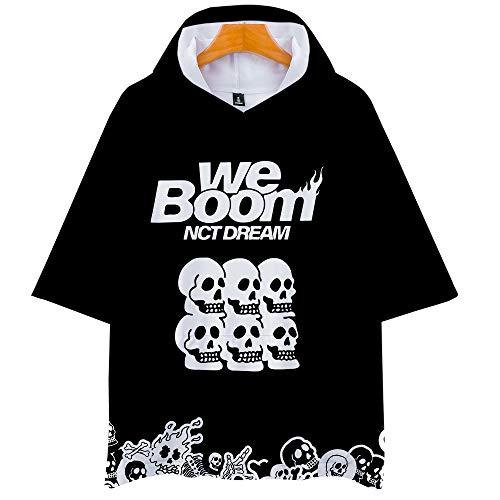 KPOP NCT Dream We Boom Hoodie Camisetas Estampada T-Shirt tee Manga Corta Tshirt Top Deportiva para Hombres Mujer Jeno HAECHAN Mark JAEMIN RENJUN JISUNG CHENLE