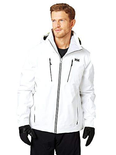 Helly-Hansen Men's Alpha 3.0 Waterproof Insulated Ski Jacket, 002 White, X-Large