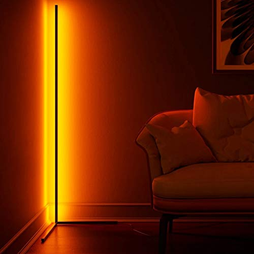 JAKROO LED Floor Lamp Nordic Style, Modern Minimalist RGB Dimmable Floor Lamp for Living Room and Bedroom, Decorative Lighting - 55 Zoll