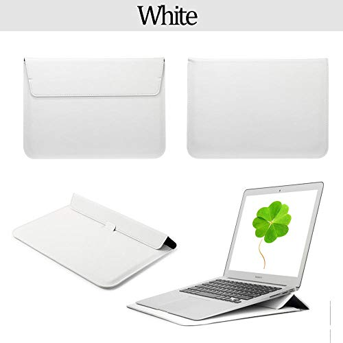 PU leather protective sleeve laptop bag for Macbook Air 13 Pro Retina 12 13 15 Universal lightweight and ergonomic adjustable tray rack-Ivory_Model A1932 A2179