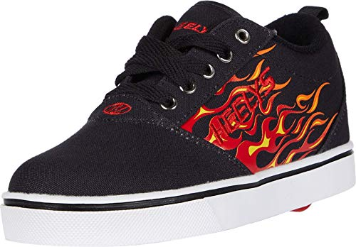 Heelys Boy's Pro 20 Prints (Little Kid/Big Kid/Adult) Black/Red Flames 13 Little Kid