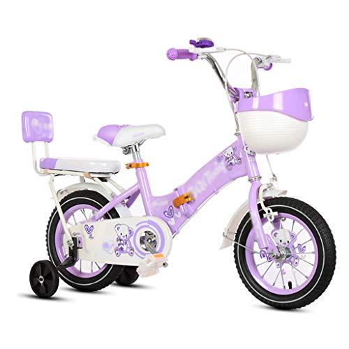 GLJ Vélos enfantsVélo Enfant,12/14/16/18 Pouces,Vélo Pliable,Vélo 2-5-7-8-12 Ans,avec Panier Et Roues Auxiliaires,3 Couleurs Disponibles(Size:14-1)