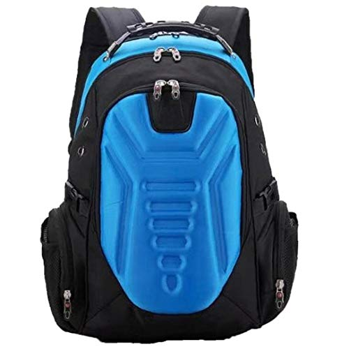 Laptop Backpack Travel Anti Theft Slim Durable Backpack with USB Charging Port Water-Repellent Business College Bag for Men Women Blue Office Travel Backpack