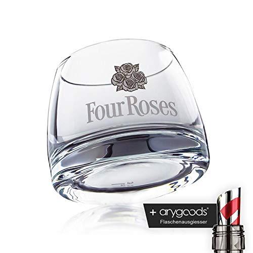 Four Roses Bourbon de whisky cristal/Diseño Vasos de cóctel gastro bar decoración + Botella vertedor