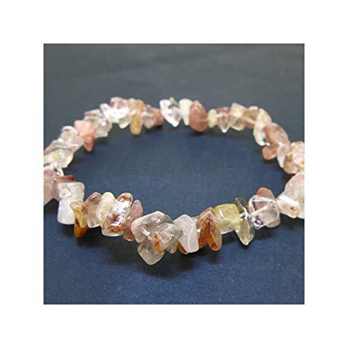 Pulsera Chip de Cuarzo Rutilado Minerales y Cristales, Belleza energética, Meditacion, Amuletos Espirituales