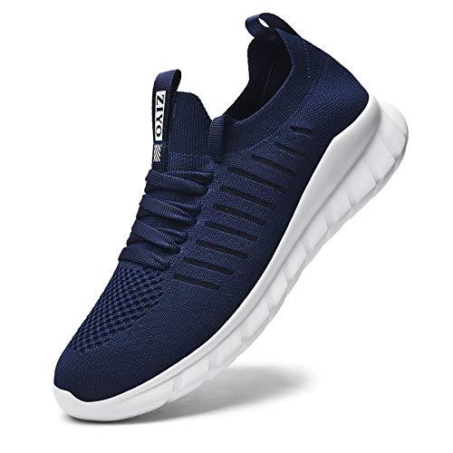 Falechay Laufschuhe Damen Herren Sneaker Turnschuhe Sportschuhe Joggingschuhe Walkingschuhe Traillauf Fitness Schuhe Straßenlaufschuhe Freizeitschuhe für Outdoor Dunkelblau 37 (012)