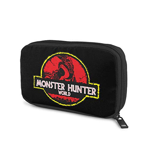 Monster Hunter World モンスターハンターの世界 ケーブル収納ポーチ トラベルポーチ 出張 旅行 ガジェットポーチ 便利グッズ ケーブル モバイルバッテリー イヤホン 小物収納 通勤 プレゼント 手提げバンド付き