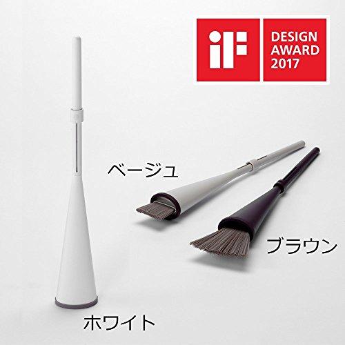【カインズ】立つほうき 2017iFデザインアワード受賞品 グッドデザイン (ベージュ)
