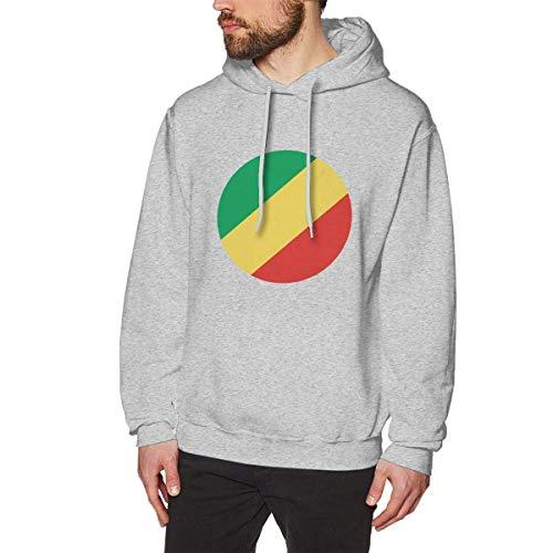 Men's Republic of Congo Hoodies Sweatshirt Pullover Sweater, Super Soft Hooded Bodysuits Tops S