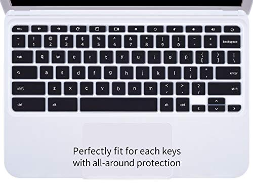 CaseBuy Ultra Thin Silicone Keyboard Protector Skin Cover for Acer Chromebook 14 CB3-431 CP5-471 14-inch Chromebook US Version(Black)