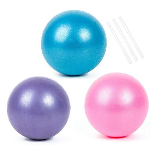 3pcs Yoga Ball Pilates Ballon de Gymnastique Anti-éclatement Fitness Balles pour 25cm Entraînement Abdominal et des Épaules, Équilibre, Sport, Pilates