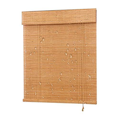 CHAXIA rolgordijn bamboe schaduw waterdichte vernis fijne bamboe balkon zolder opknoping gordijn, multi-size, aanpasbaar