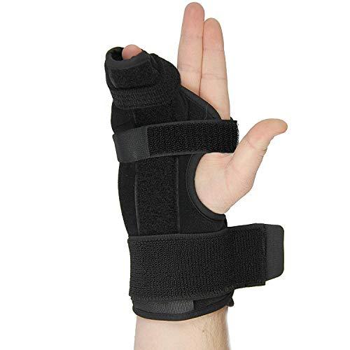 Férula metacarpal - férula bóxer para mano derecha e izquierda, fácil de poner y quitar, férula estabilizadora para metacarpales y lesiones de mano, aprobado por la FDA, un U.S.Solid Producto (Medium)