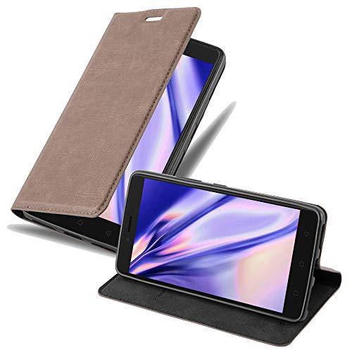 Cadorabo Hülle für Lenovo K6 Note - Hülle in Kaffee BRAUN – Handyhülle mit Magnetverschluss, Standfunktion & Kartenfach - Hülle Cover Schutzhülle Etui Tasche Book Klapp Style