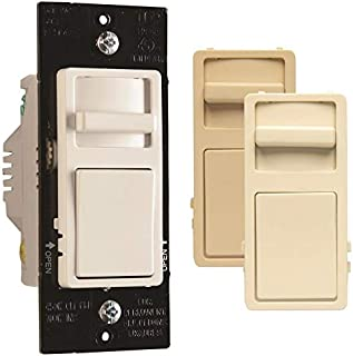 CFL/LED Decorator Dimmer Switch, Wide Slide, 450-Watts -WSCL453PTCCCV4