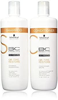 Schwarzkopf BC Time Restore Shampoo and Conditioner Liter Duo 33.81 Ounce
