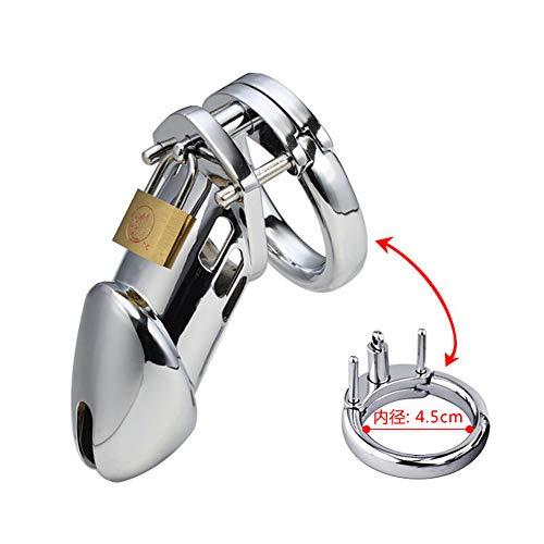 Anello da uomo in acciaio inossidabile con protezione protettiva (misura dell'anello 17.7 in)