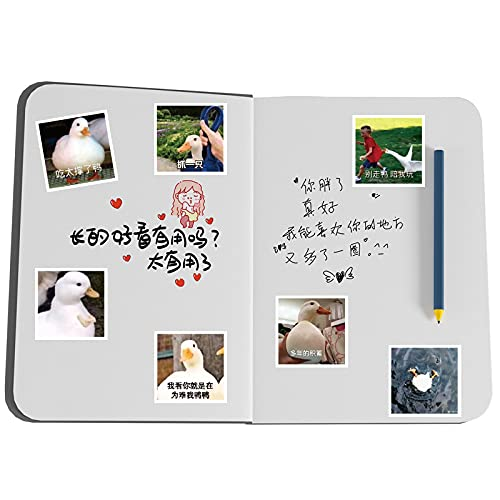 MBGM 60pcs Happy Duck Emoji Pack Sticker lindo dibujos animados divertido pato papelería agua taza cuaderno impermeable decorativo