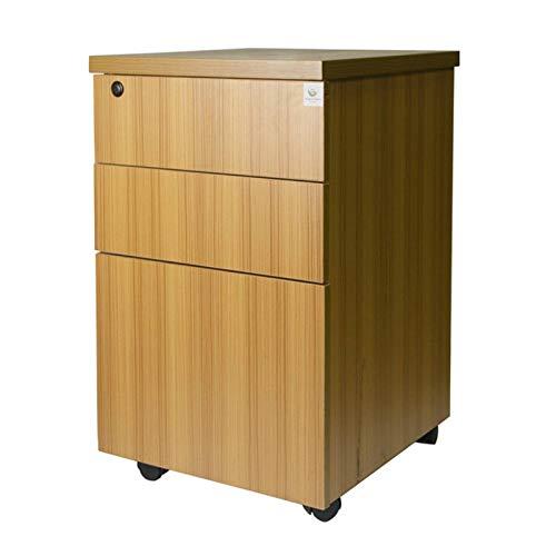 Madeinely Rollcontainer Aktenschrank Mobiler Büroschrank Mobiler Aktenschrank
