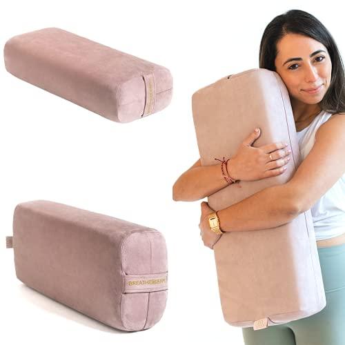 Yoke Wellness Yoga Bolster Pillow - Eco-Friendly, Yoga Cushion Rectangular Support with...