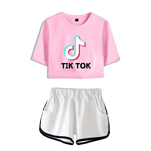 ZYPPX TIK TOK - Camiseta de manga corta para mujer (2 unidades), E, XXS