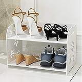 47-B Zapatero multicapa simple y económico montaje en casa, sala de estar, zapatero de almacenamiento, simple y moderno, marco de pantuflas de baño impermeable (tamaño: 41,5 x 24,5 x 46,7 cm)